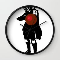 boba Wall Clocks featuring Boba by michael newton