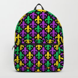 Mardi Gras Pattern   Funny Carnival Graphic Backpack