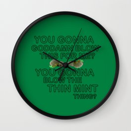 IASIP - Ass Kickers United Against Thin Mints Wall Clock