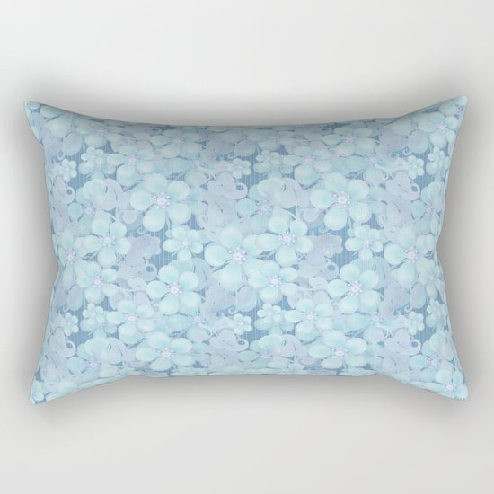 Light blue floral pattern . 1 by fuzzyfox85