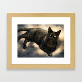 Tortie Framed Art Print