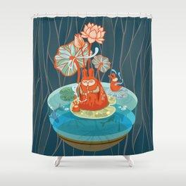 The Flutist Shower Curtain
