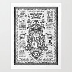 Legend of Zelda inspired Deku Nuts Vintage Advertisement Art Print