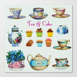 Tea & Cake Canvas Print