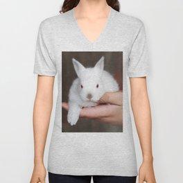 Bunny in hand Unisex V-Neck