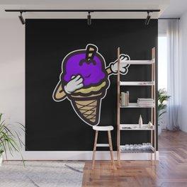Dabbing Ice Cream Wall Mural
