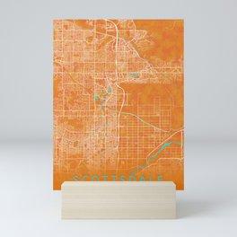 Scottsdale, AZ, USA, Gold, Blue, City, Map Mini Art Print