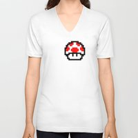 pixel V-neck T-shirts featuring Pixel by eARTh