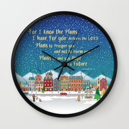 Plans to give you hope and a Future.Jeremiah 29-11 Wall Clock