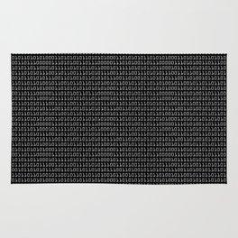 Gray-on-black Binary Code Pattern Rug