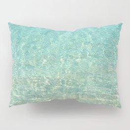 Colors of the Sea Water - Clear Turquoise Pillow Sham