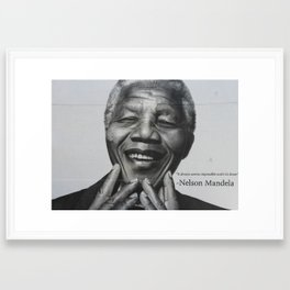 Mandela Street Art Framed Art Print