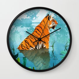 Tiger Creek Wall Clock