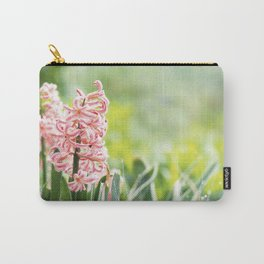 Pink Hyacinth Flower Carry-All Pouch