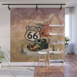 Get your Kicks on Route 66 Wall Mural