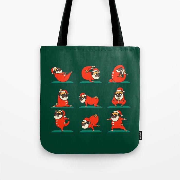 Santa Pug Yoga Tote Bag by huebucket   Society6 733cf2847f