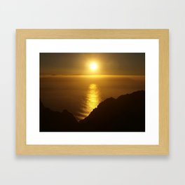 Sunset over the Canary Islands Framed Art Print
