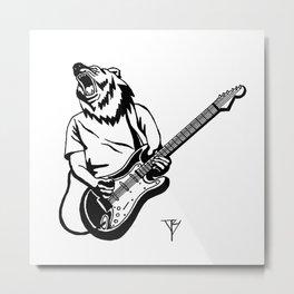 AniMusic (Bear) Metal Print