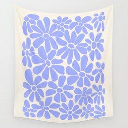 Retro Daisy - Lavender  Wall Tapestry