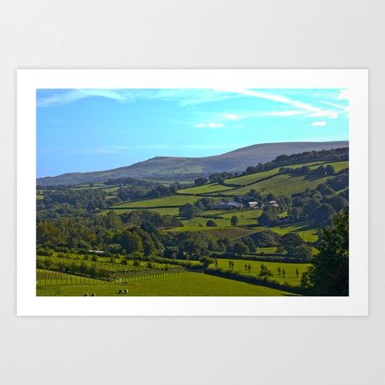 Devon Landscape Art Print