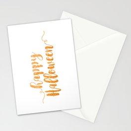 Happy Halloween | Orange Glitter Stationery Cards