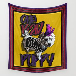 One BAD Puppy Wall Tapestry