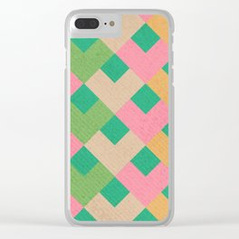 Rainbow Thatch Clear iPhone Case