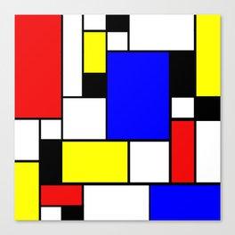 Mondrian Style Canvas Print