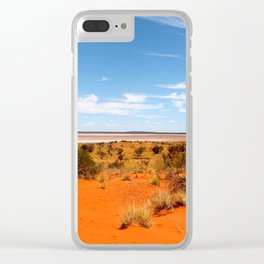 Outback Saltflats Clear iPhone Case