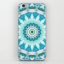 Aquamarine Mandala iPhone Skin