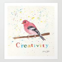creativity Art Prints featuring Creativity by Tammy Kushnir