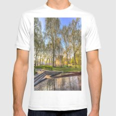 Buckingham Palace and Canadian War Memorial White Mens Fitted Tee MEDIUM