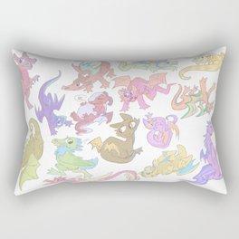 Red Dragon Horde Rectangular Pillow