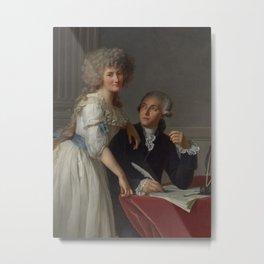Antoine-laurent De Lavoisier And Marie-anne Paulze Lavoisier Metal Print