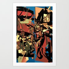 Nietzsche Walks Out At Bayreuth (The Theater of Noisea)  Art Print