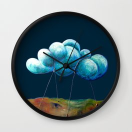 Cloud Tied Wall Clock