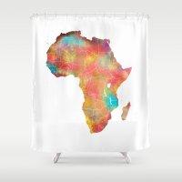 africa Shower Curtains featuring Africa by jbjart