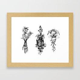 In Bloom - herbarium Framed Art Print