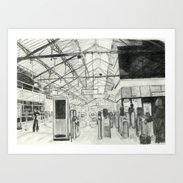 Earl's Court Station Art Print