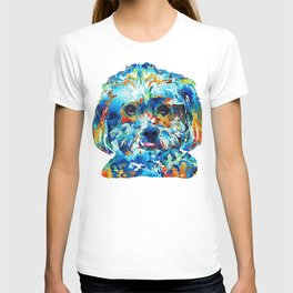 Colorful Dog Art - Lhasa Love - By Sharon Cummings T-shirt