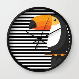 TOUCAN tropical toucans Wall Clock