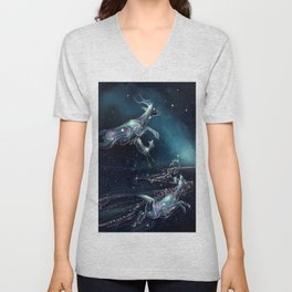 Space Deers Unisex V-Neck