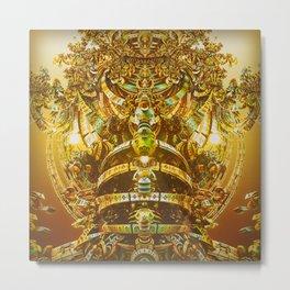 Aztec Gold Metal Print