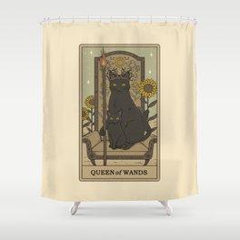 Queen of Wands Shower Curtain
