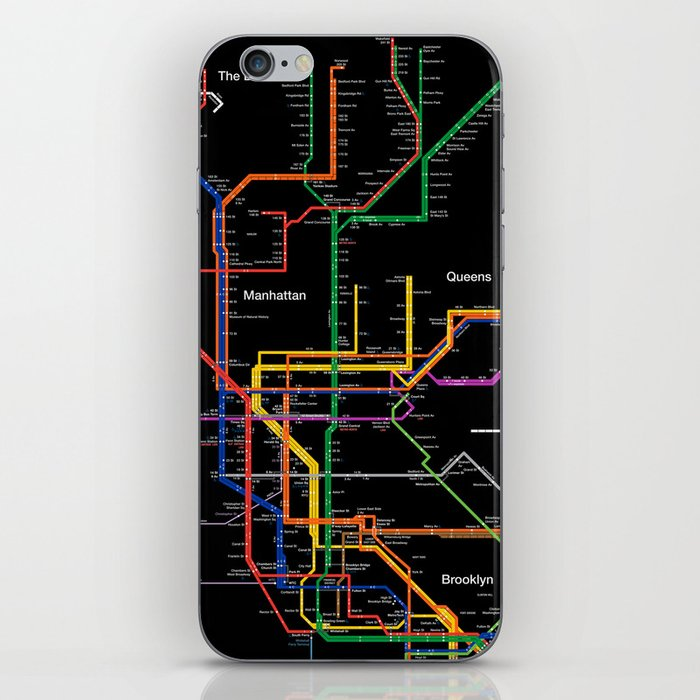 Portable Nyc Subway Map.New York City Subway Map Iphone Skin By Igorsin