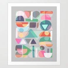 Pastel Geometry 2 Art Print