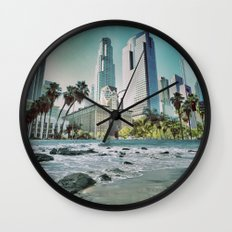 Surf City L.A. Wall Clock