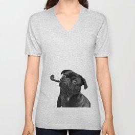 Mr pug Unisex V-Neck
