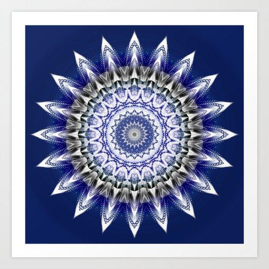 Star blue Art Print