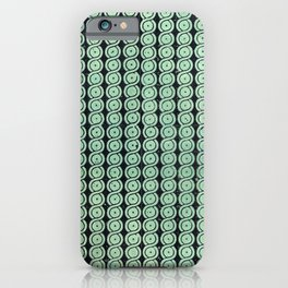 Green Guilloche Pattern iPhone Case